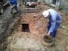 Při provádění opatrné skrývky byly odhaleny důmyslně vytvořené odvětrávací kanály,které plně zajišťovali suchost podzemních místností.